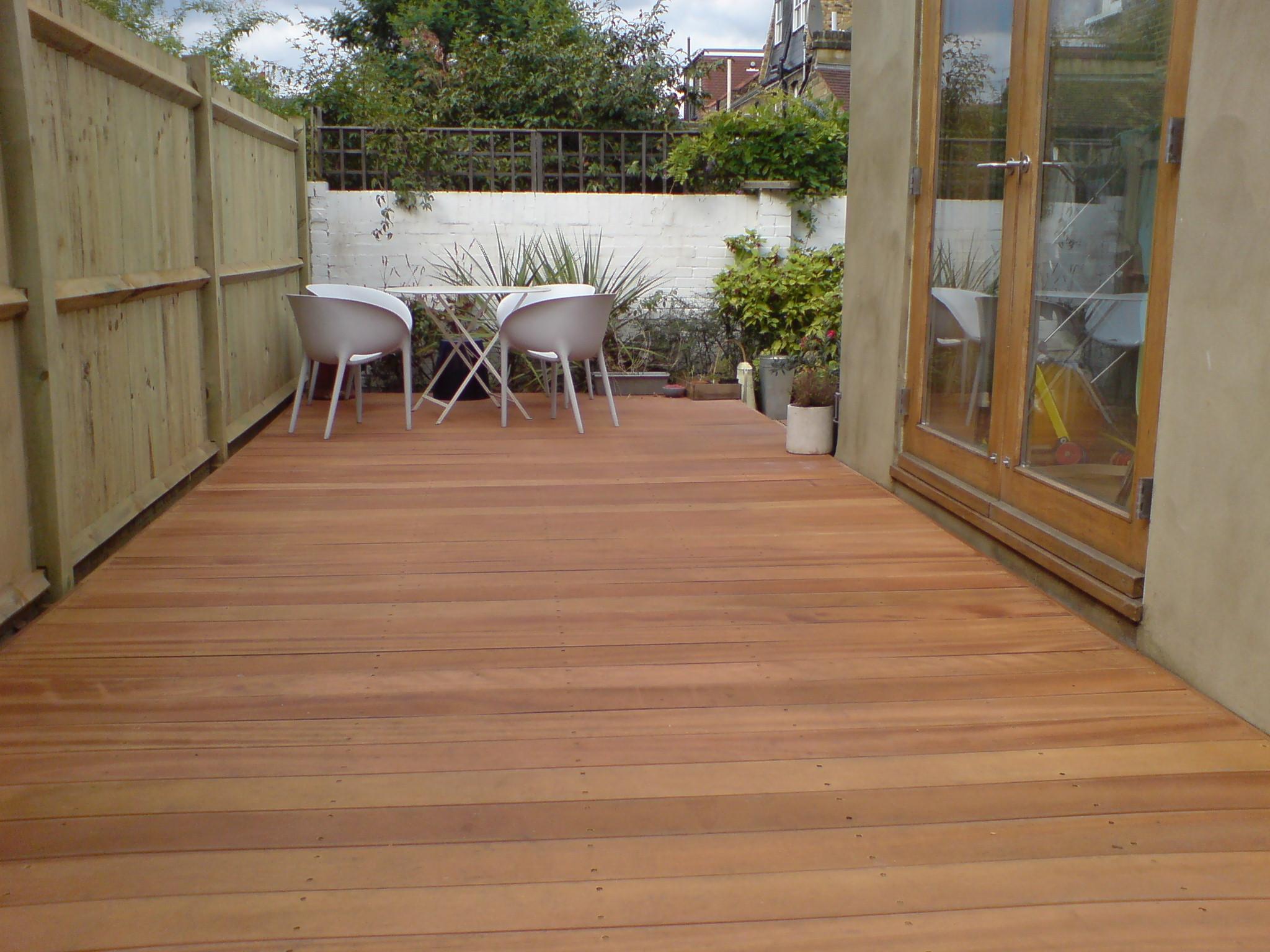 Decking creative gardens by harvey and dawson for Garden decking colours